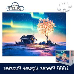 1000Pcs Puzzles Aurora Tree Micro Jigsaw Puzzle Adult Kid As