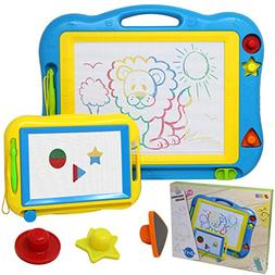 2 Magna Doodle Boards with Multi-Colors Drawing Screens Eras