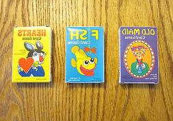 3 NEW DECKS OF KIDS CARD GAMES OLD MAID GO FISH AND HEARTS
