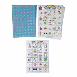 36-Set Unicorn Bingo Game for Kids Themed Party Supplies, 2