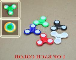 5x Pack Tri Hand Finger LED light Figet Spinner Figit Spin P