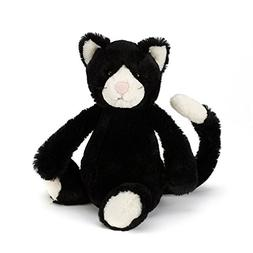 Jellycat Bashful Black and White Cat, Medium, 12 inches