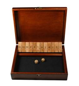 WE Games Shut the Box Game with 12 Numbers in an Old World S