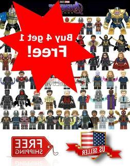 Avengers Minifigure Building Blocks End Game Iron Man Captai