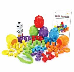 Bears Toy Set W/Matching Sorting Cups Toddler Game For Pre-S