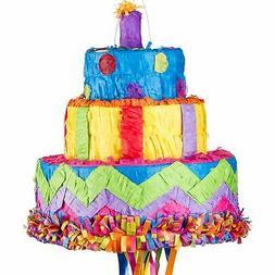 Birthday Cake Pull String Pinata