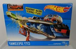 Hot Wheels City Speedway Trackset Cars On Highway Action Gam