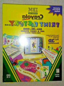 IBM Crayola PRINT FACTORY CD-ROM - Child's All-in-one Art &