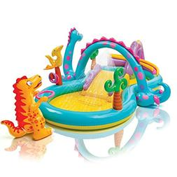 "Intex Dinoland Inflatable Play Center, 31"" X 90"" X 44"", for"