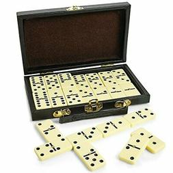 Kicko Domino Set - Premium Classic 28 Pieces Double Six In D
