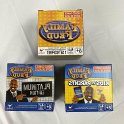 Family Feud Boxed Card Games Original/Platinum Edition/Kids