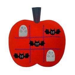 Halloween Felt Pumpkin Ticktacktoe Board Games for Kids Play