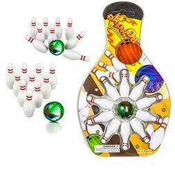 Indoor Bowling 12 Pack Miniature Bowling Game Set -Deluxe -