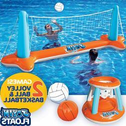 Swimming Pool Games Inflatable Volleyball Basketball Game Ki