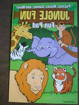 Jungle Fun: Puzzles, Mazes, Games, and More! Fun Pad for Chi