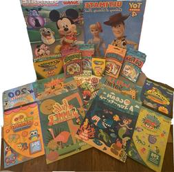 Kid's activity/coloring books, games, crayola crayons, and