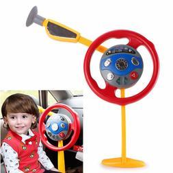Kids Backseat Steering Wheel Toy Electronic Driver Car Game