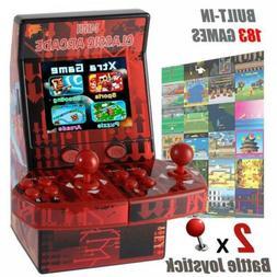 Kids Mini Classic Arcade Game Cabinet Machine with 183 Handh