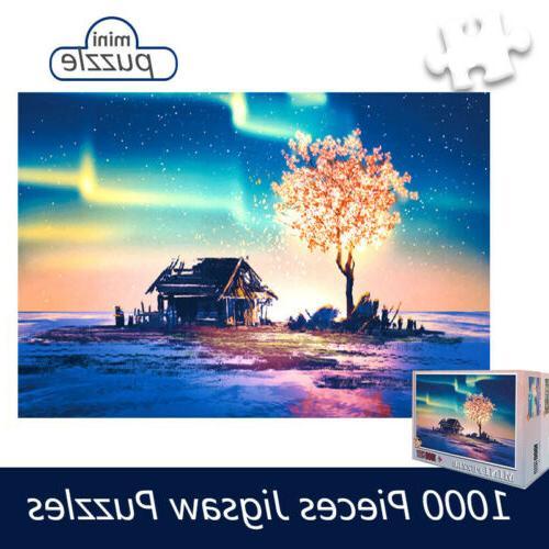 1000pcs puzzles aurora tree micro jigsaw puzzle