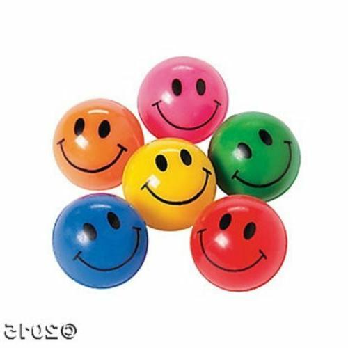 12 Smile Happy Face Bounce Bouncing Balls Kids Birthday Part