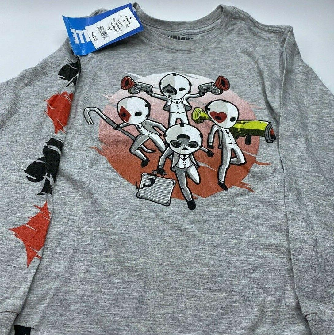 Boy's 8-20 Fortnite Long Sleeve Graphic 5 Choices New
