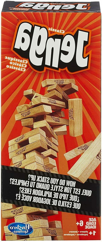 Tabletop Jenga Wood Stacking Party Fun Game Building 54 Pcs