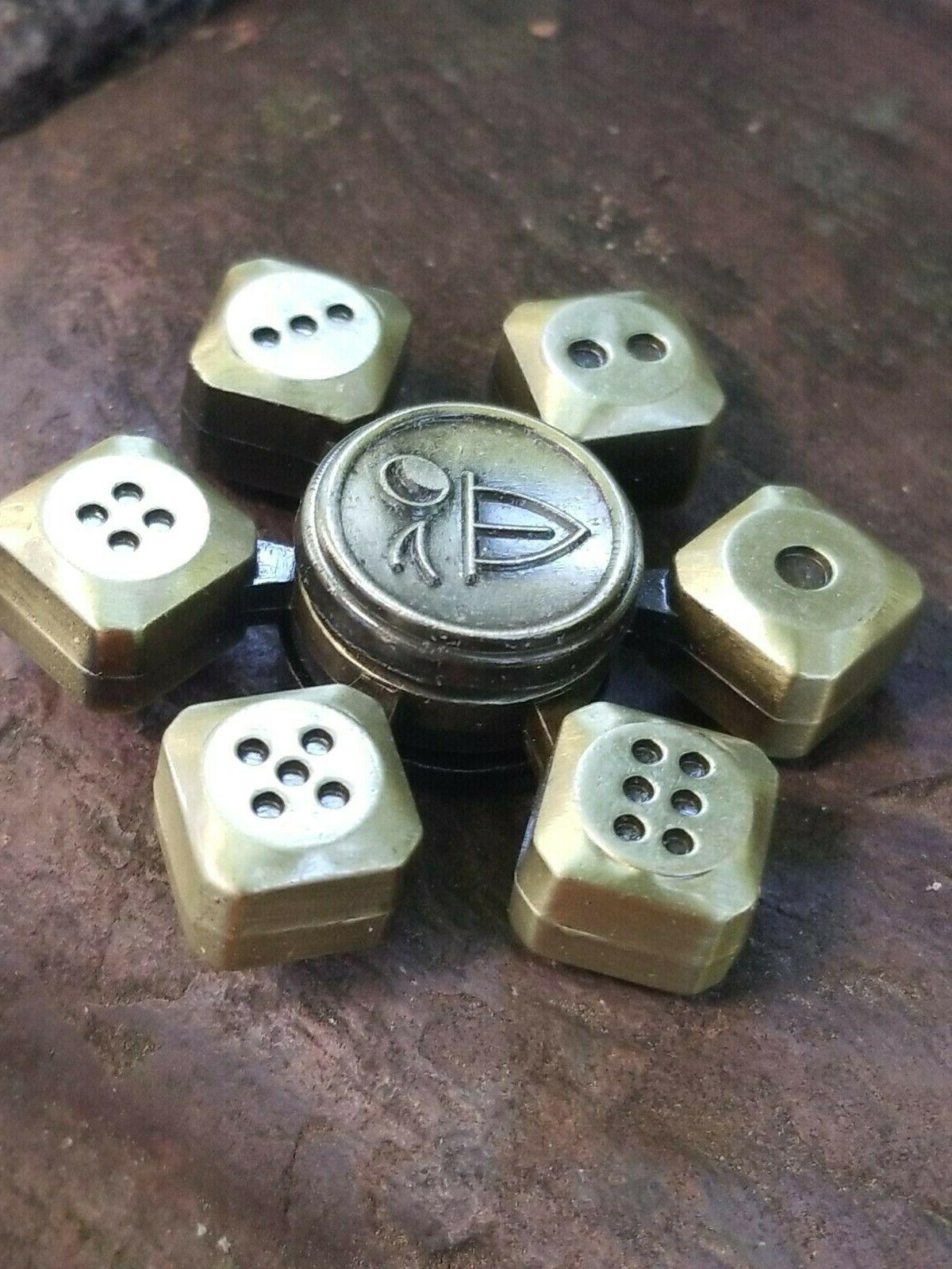 Craps Dice Metal Hand Fidget Spinner Bones, Casino, Good Kids 🤏