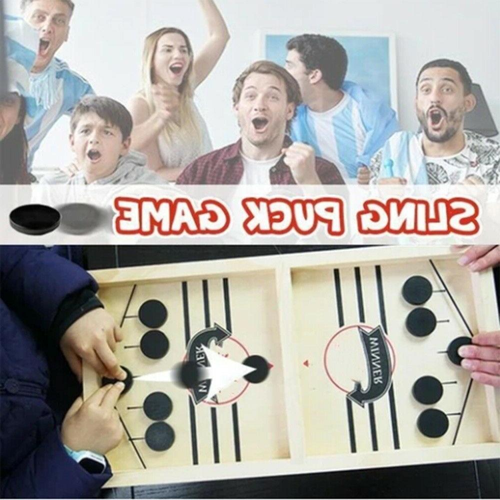 Fast Sling Wooden Board Table Hockey Game Party Toys