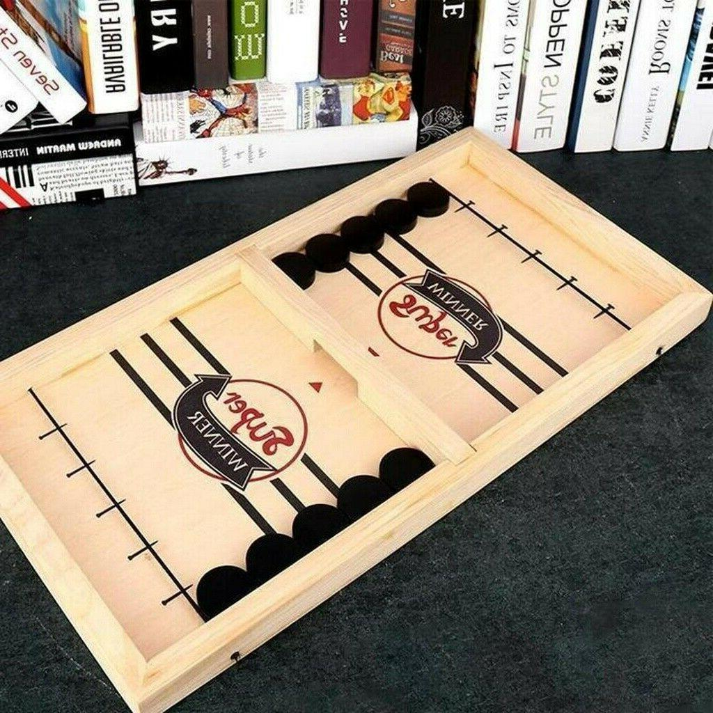Fast Puck Wooden Table Game Party Toys
