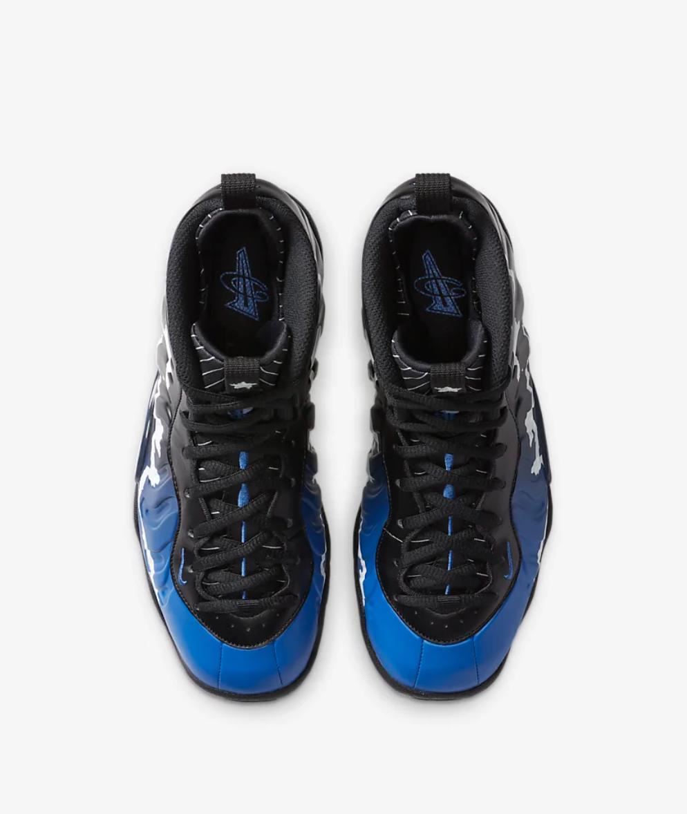 Nike Foamposite One Black Game Blue Aurora Star 96