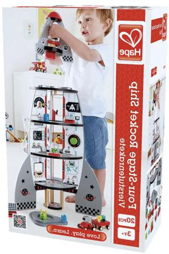 Hape FOUR-STAGE ROCKET Pre-School Children Toy NEW