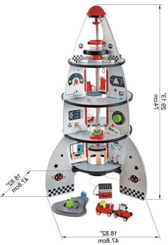 Hape ROCKET SHIP Pre-School Children Toy Game -