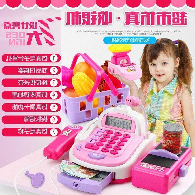 Girls Play Toys Supermarket Cash Cashier Groceries Game