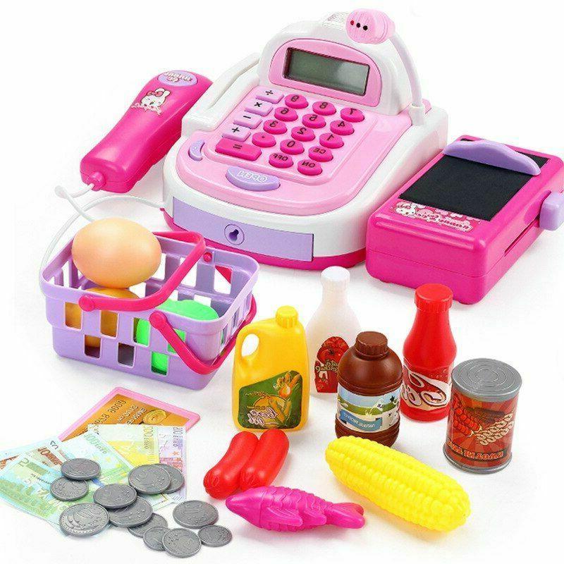 Girls Pretend Supermarket Cashier Groceries Game