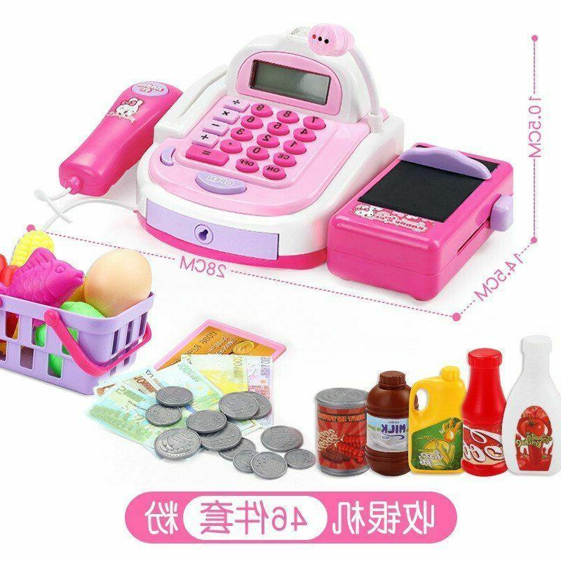 Girls Play Toys Cashier