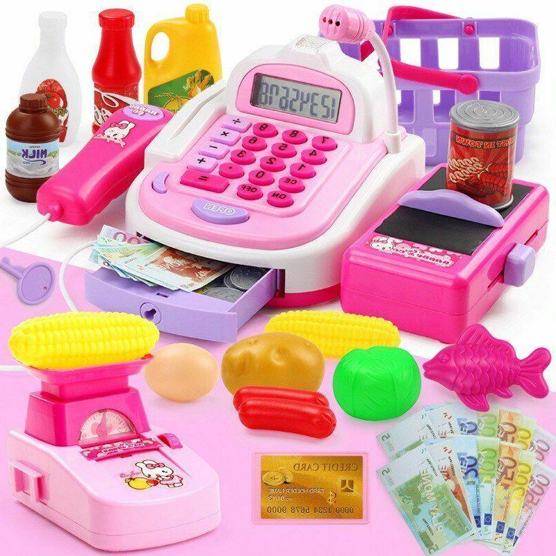 Girls Pretend Supermarket Cash Kids Cashier