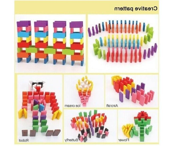 Kids Building Blocks Dominoes Set Fun Toy