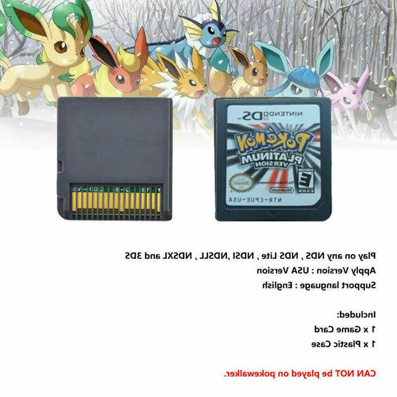 Pokemon Platinum Version Card Nintendo 2DS DSI DS XL Kids Gift USA