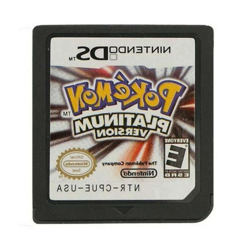 pokemon platinum version game card for nintendo