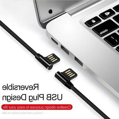 RIGHT ANGLE 10FT LONG USB GAMING POWER PHONES & TABLETS