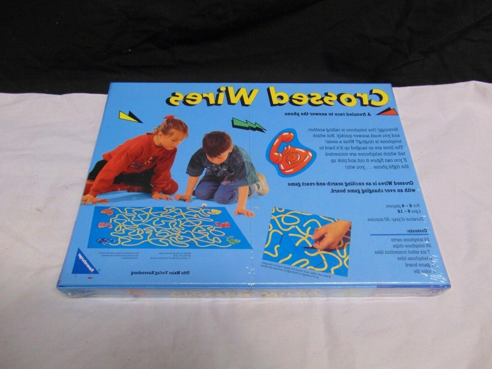 Sealed 1993 Ravensburger Crossed Wires Board frehzied race