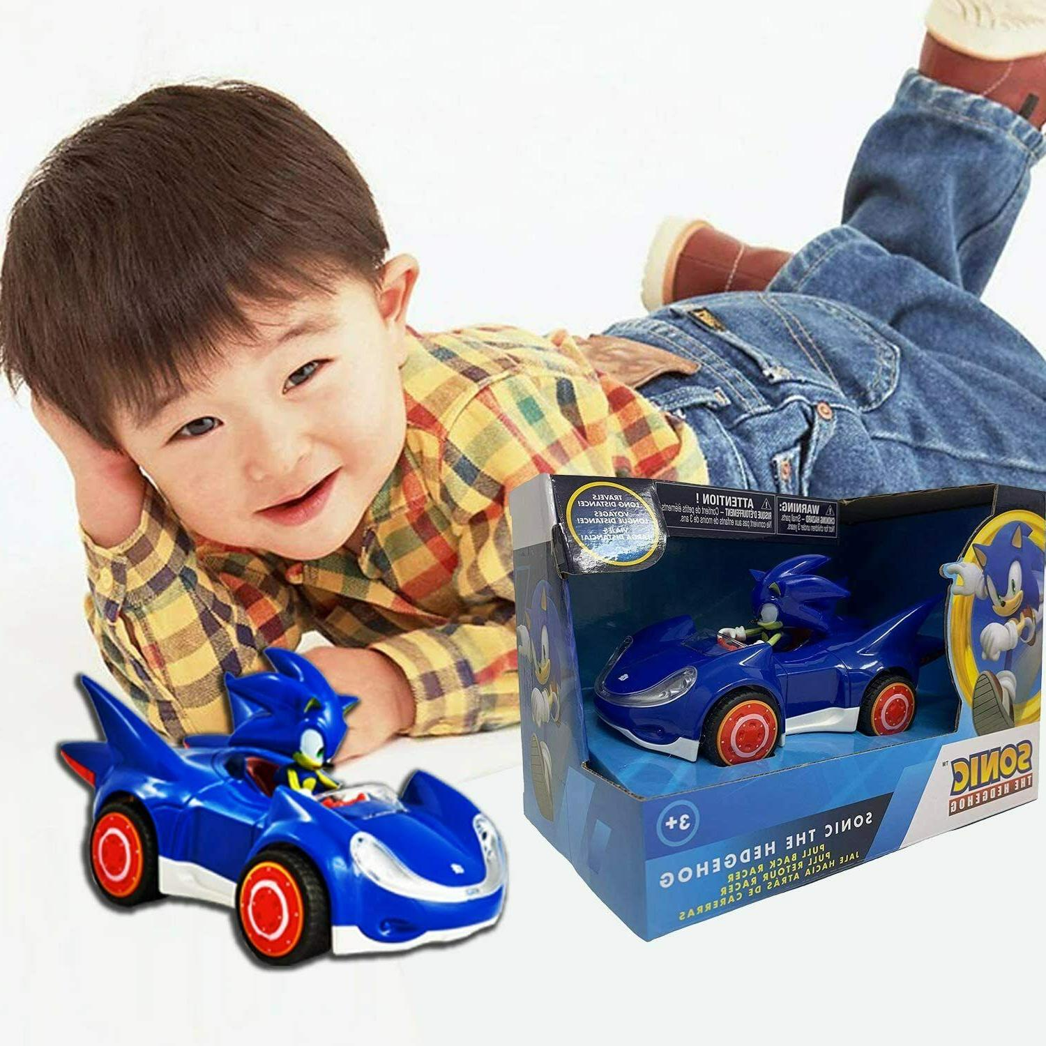 Sonic Star Racing Action Car Figure Gift Toy Kid Game