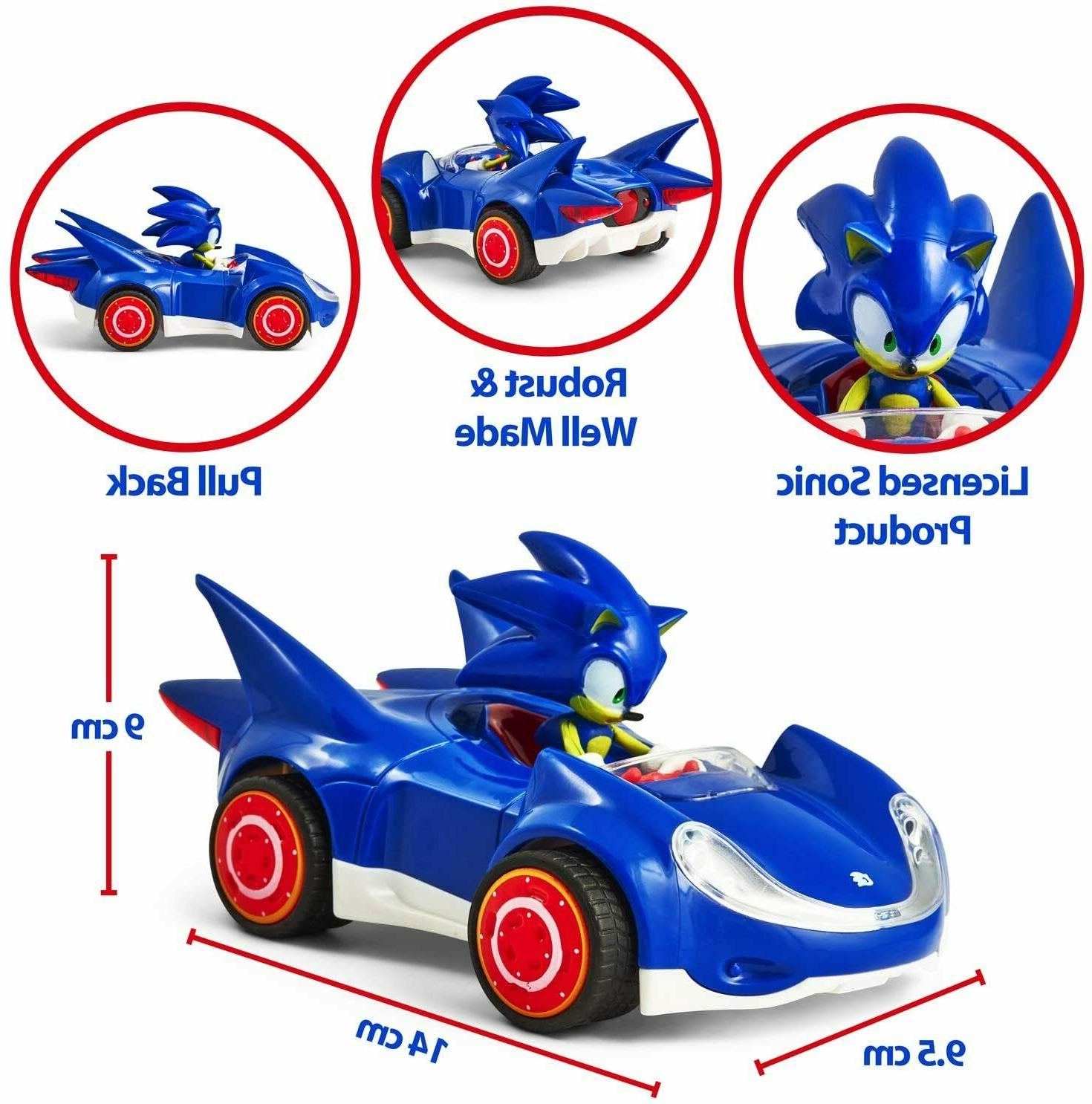 Sonic the Star Racing Pull Back Toy