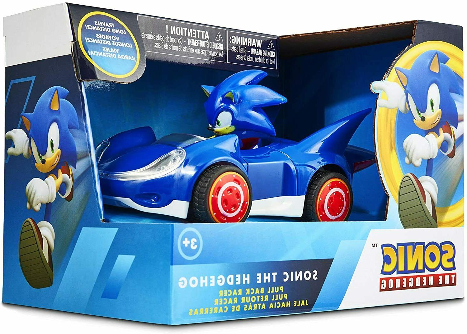 Sonic Hedgehog Star Pull Back Action Figure Gift Toy Game