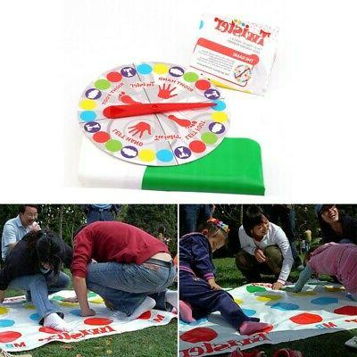 Adult Twister-Game Funny Kid Family Body Twister-Moves Mat B