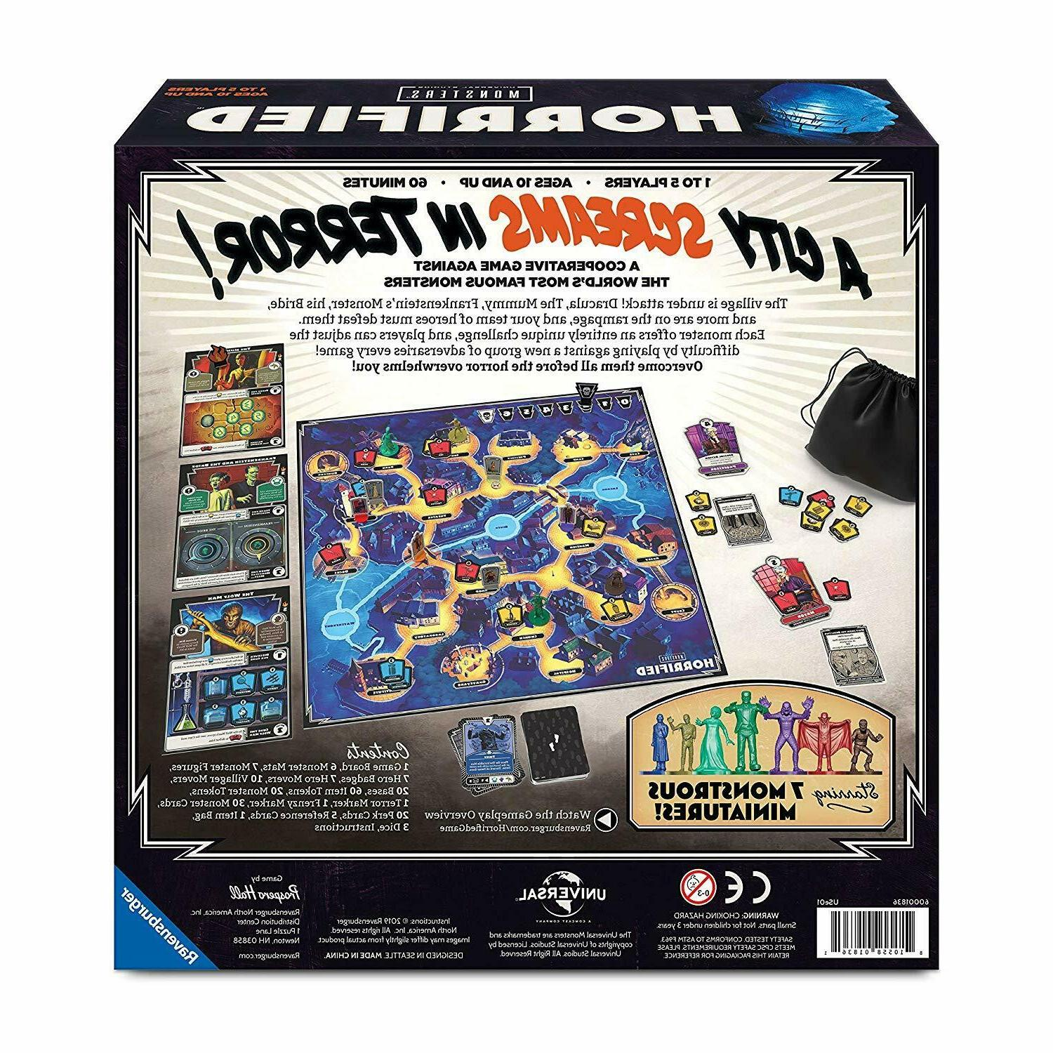 Universal Monsters Strategy Board Game New