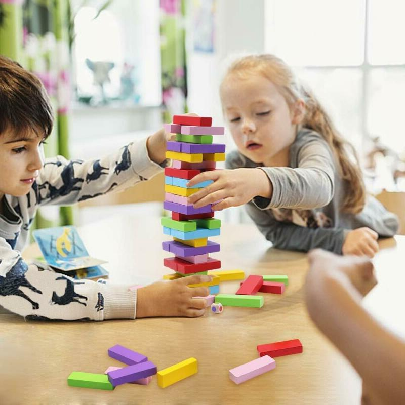 Wooden Stacking Board for Kids and Families, Gentle Wooden Blocks