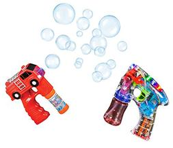 Light-Up & Sound Bubble Blaster and Fire Truck Bubble Blaste