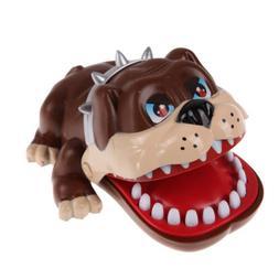 Luck Dog Bulldog Dentist Bite Finger Funny Game Party Family