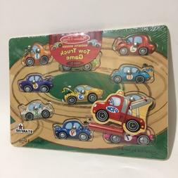 Melissa & Doug Magnetic Tow Truck Towing Game Wooden Puzzle